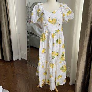 Rachel Parcell lemon summer dress L